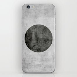 Concrete with black circle iPhone Skin