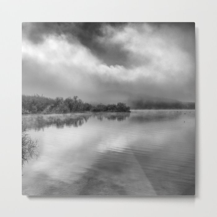 """Looking For Dreams"". Foggy morning Metal Print"