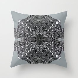 """Tutto sulle mie spalle!"" (0017) Throw Pillow"