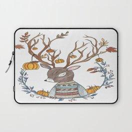 Autumn Pumpkin Deer Laptop Sleeve