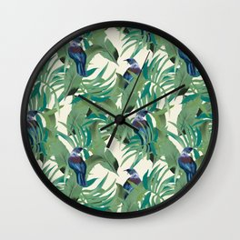 Tuis and Palms Wall Clock