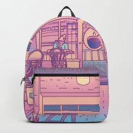 Vaporwave Coffee Shop Backpack