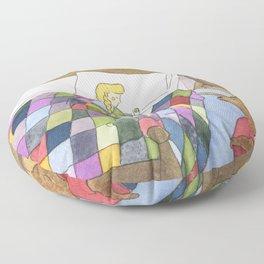 Goldilocks Caught Sleeping Floor Pillow