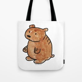 Pudgy Brown Bear Tote Bag