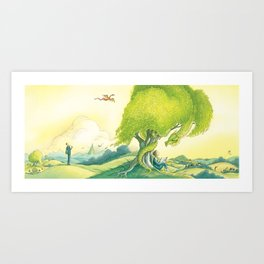 Tolkien And His Dragons Art Print