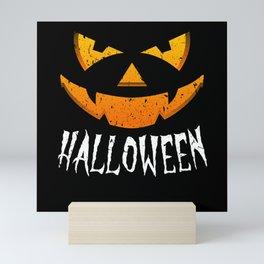 Halloween Costume Pumpkin Scary Monster Mini Art Print