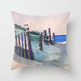 Wingaersheek Beach Path Throw Pillow
