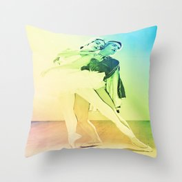 Rainbow Ballet : Swan Lake Throw Pillow