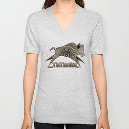 Buffalo Running (Gray) Unisex V-Neck
