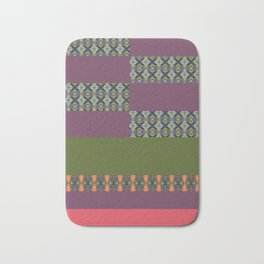 color and pattern blocking Bath Mat