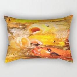 TEXTURES: Koi Swarm Rectangular Pillow
