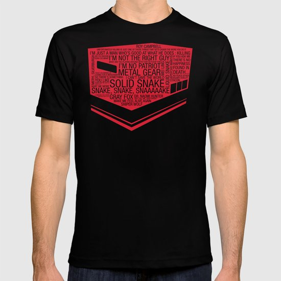 Metal Gear Solid Typography T-shirt