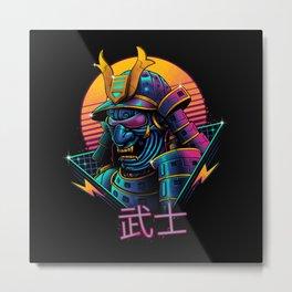 Rad Samurai Metal Print