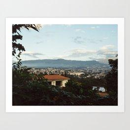 Quito from the Yard (Ecuador) Art Print