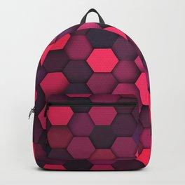 Purple Shade Hexagon Geometric Patterns Backpack
