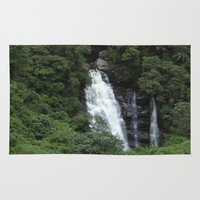 waterfall Area & Throw Rugs featuring WATERFALL by Caio Trindade