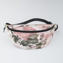 Vintage & Shabby Chic - Sepia Pink Roses Fanny Pack