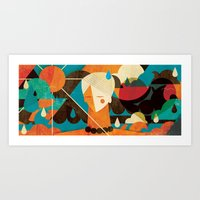 surfer Art Prints featuring Surfer ... by Adam Quest