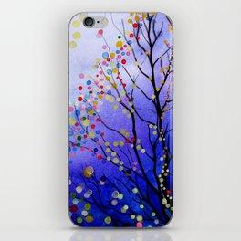 sparkling winter night sky iPhone Skin