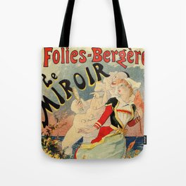 French belle epoque mime theatre advertising Tote Bag