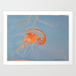 Jelly Fish Print from Original Art Print