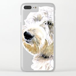 Labradoodle Butters Clear iPhone Case