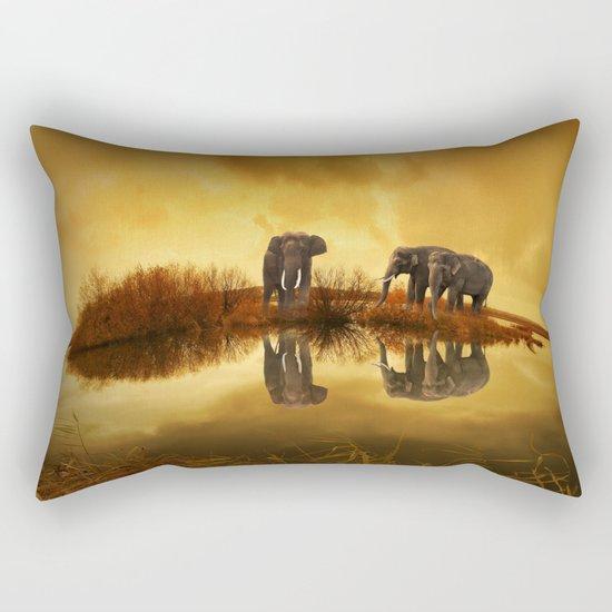 Elephant 3 Rectangular Pillow