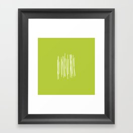 Wood - Minimal FS - by Friztin Framed Art Print