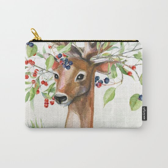 Winter animal #4 Carry-All Pouch