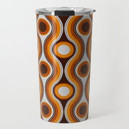 Older Patterns ~ Waves 70s Travel Mug