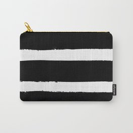 Black & White Paint Stripes by Friztin Carry-All Pouch