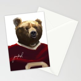 Big Red Bear Portrait Stationery Cards