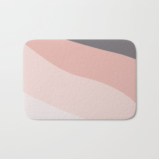 pink tone color palette Bath Mat