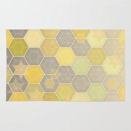 Lemon & Grey Honeycomb Rug