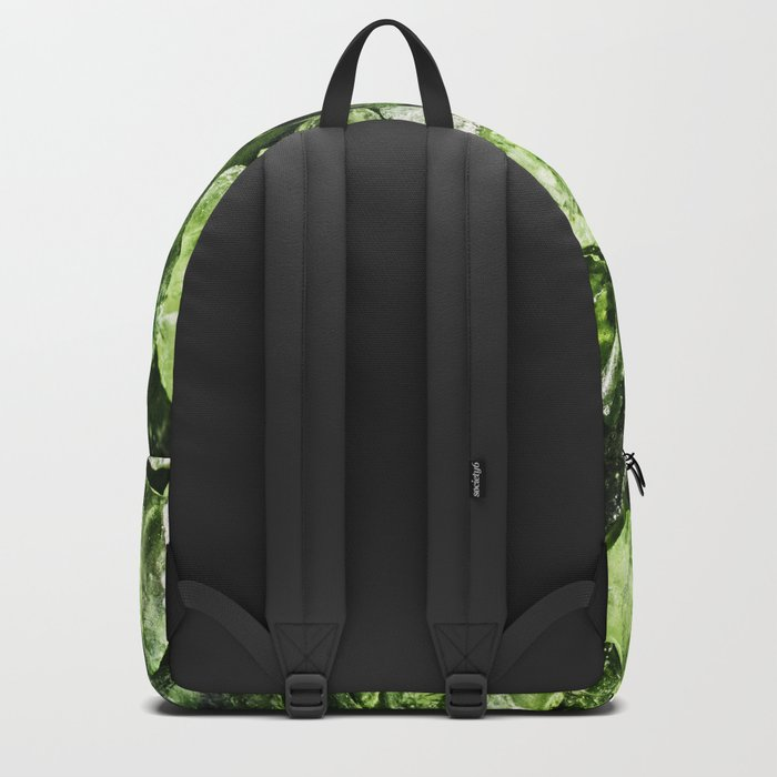 Vibrant greenery crystal rocks Backpack