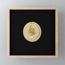 Black Gold Moon and Stars #1 #decor #art #society6 Framed Mini Art Print