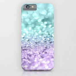 Aqua Purple MERMAID Girls Glitter #1 #shiny #decor #art #society6 iPhone Case