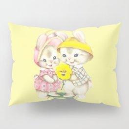 Bunny Girl + Boy Pillow Sham