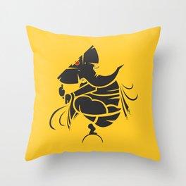 Lord Ganesha Mool Mantra Throw Pillow
