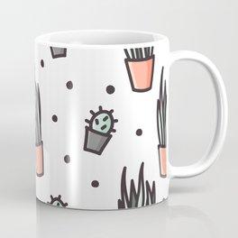 Sansevieria and cactus doodles Coffee Mug