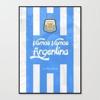 argentina Canvas Prints featuring Argentina by liamhohoho