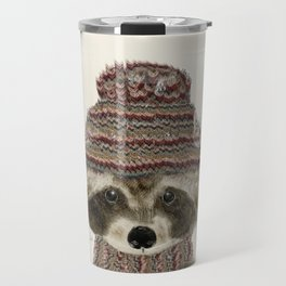 little indy raccoon Travel Mug