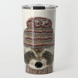 little indy raccoon Travel Mug
