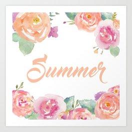 Summer Florals Art Print
