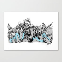 Greasers Canvas Print