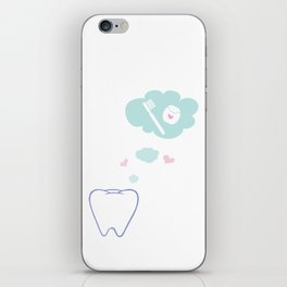 Tooth with Happy Thoughts iPhone Skin