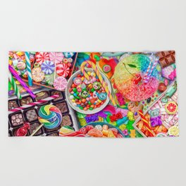 Candylicious Beach Towel