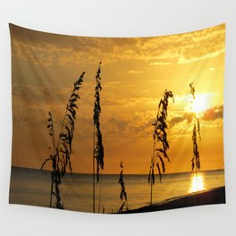 Golden Sea Oats Wall Tapestry