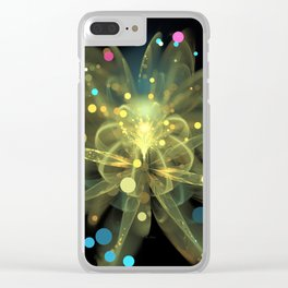 Popping Poppy Clear iPhone Case