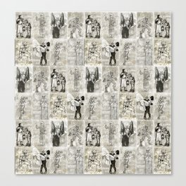 Universal Monster Pattern Canvas Print